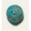 Glass Bead 10mm Nuggets Turquoise With Silver Matrix Strung